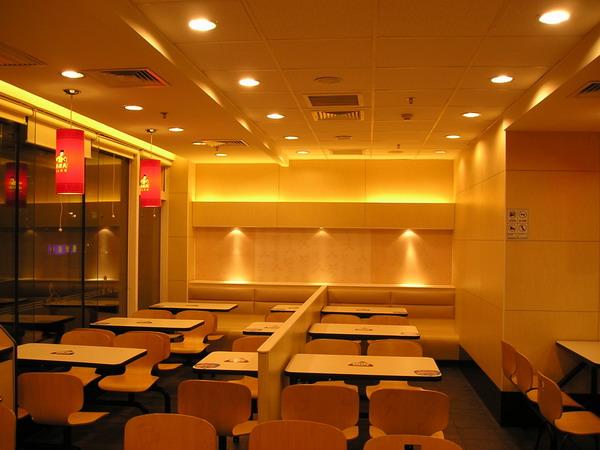 北京220平的真功夫餐厅装修效果图