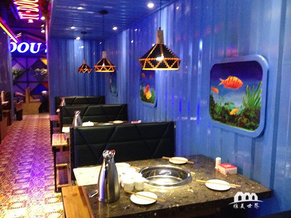 鱼豆吉火锅餐厅装修_以鱼为主题的火锅餐厅装修-雅美